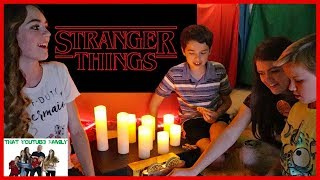 stranger things in a blanket fort that youtub3 family