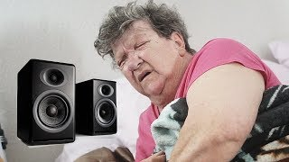 PLAYING MORE LOUD MUSIC PRANK ON SLEEPING GRANDMA!