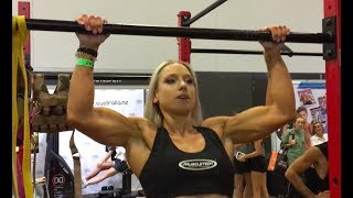 "Female Pull-Up Champion ""MIss Jane"" Winning Comp at FitShow AussieStrength"