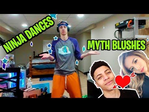 NINJA DANCES !! MYTH blushes on POKIMANE !! Tfue jokes about twitch ban !! Daily Fortnite Show Ep.7