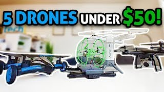 5 UNIQUE Toy DRONES Under $50!!