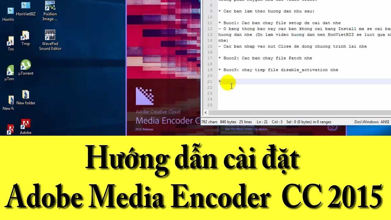 Hướng dẫn cài đặt Adobe Media Encoder CC 2015