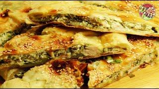 Пирог с творогом, зеленью, куриной грудкой. Просто, вкусно, недорого.