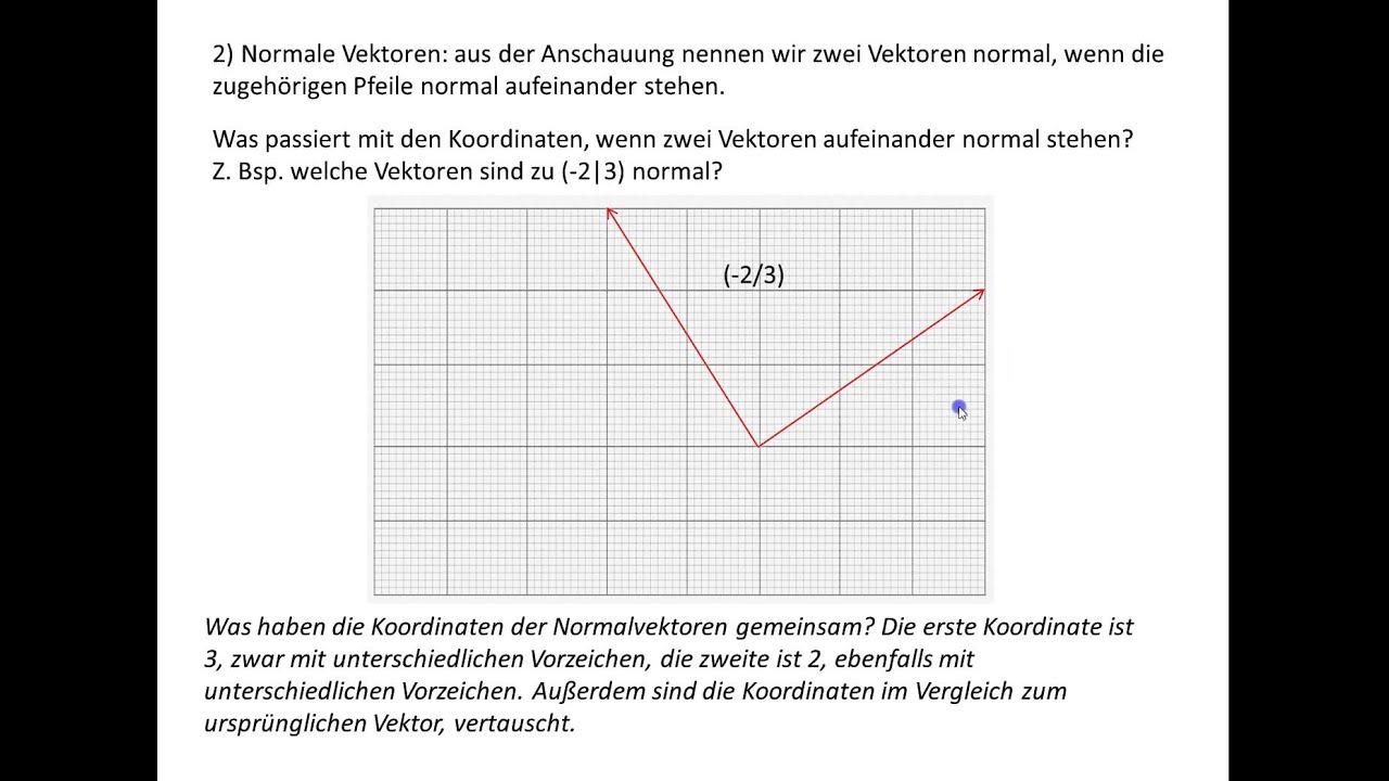 parallele und normale vektoren l nge eines vektores 5 79 schue youtube. Black Bedroom Furniture Sets. Home Design Ideas