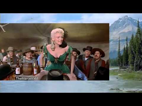 MARILYN MONROE performs FILE MY CLAIM from River of No Return - The RARE Movie Scene