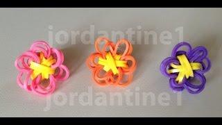 New Rainbow Loom Solid Flower Fun Charm