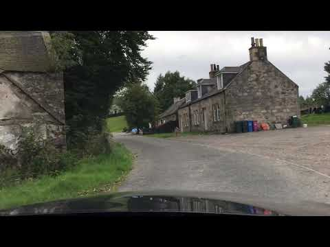 Driving into to Cragganmore Distillery in Ballindalloch, Scotland