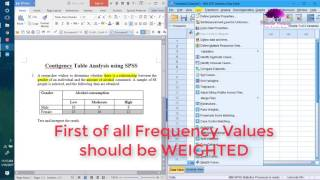 Contigency Tables in SPSS - Categorical Data Analysis