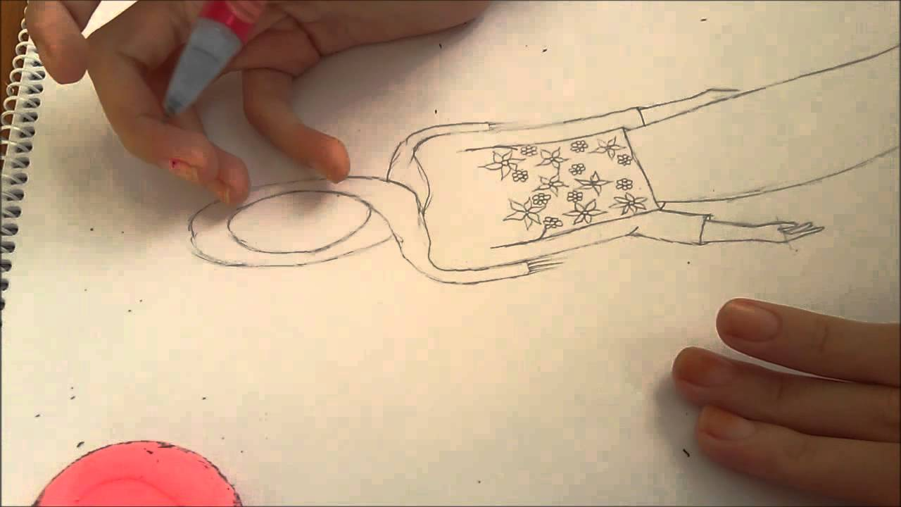 Sinem Moda Tesetturlu Elbise Cizimi Youtube