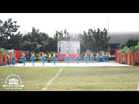 งานแข่งขันกีฬาสีสัมพันธ์ ครั้งที่ 7 ศรีวัฒนาบริหารธุรกิจ สีฟ้า-เช้า (อันดับ 2 ผู้นำเชียร์)
