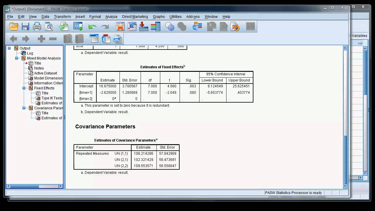 Modern repeated measures analysis using mixed models in SPSS (1)