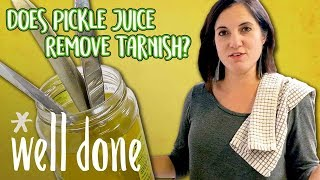 How to Remove Silver Tarnish with Pickle Juice | Food 101 | Well Done