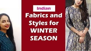 Winter Fabrics and Outfit Styles Party Wear and Office Wear for Women