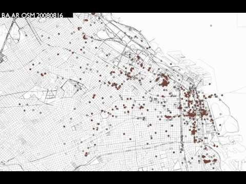 Flickr Geo Visualization - Buenos Aires