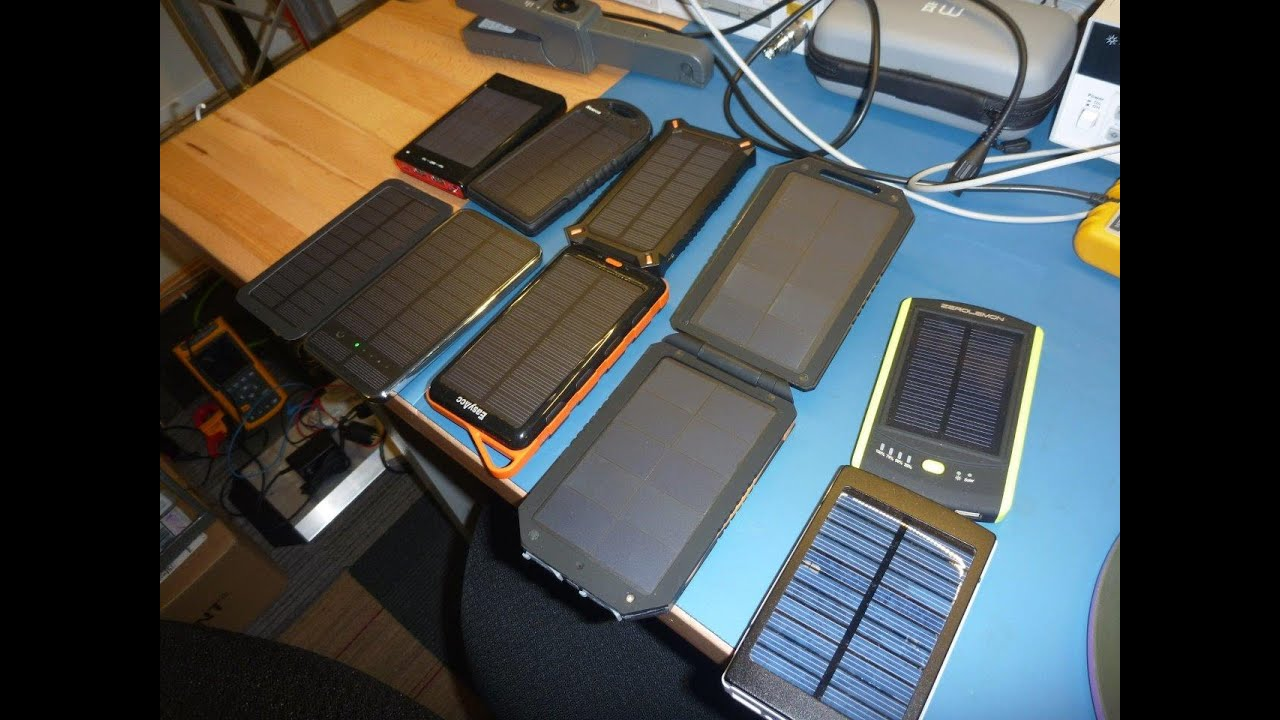 solar usb power bank tests review youtube. Black Bedroom Furniture Sets. Home Design Ideas
