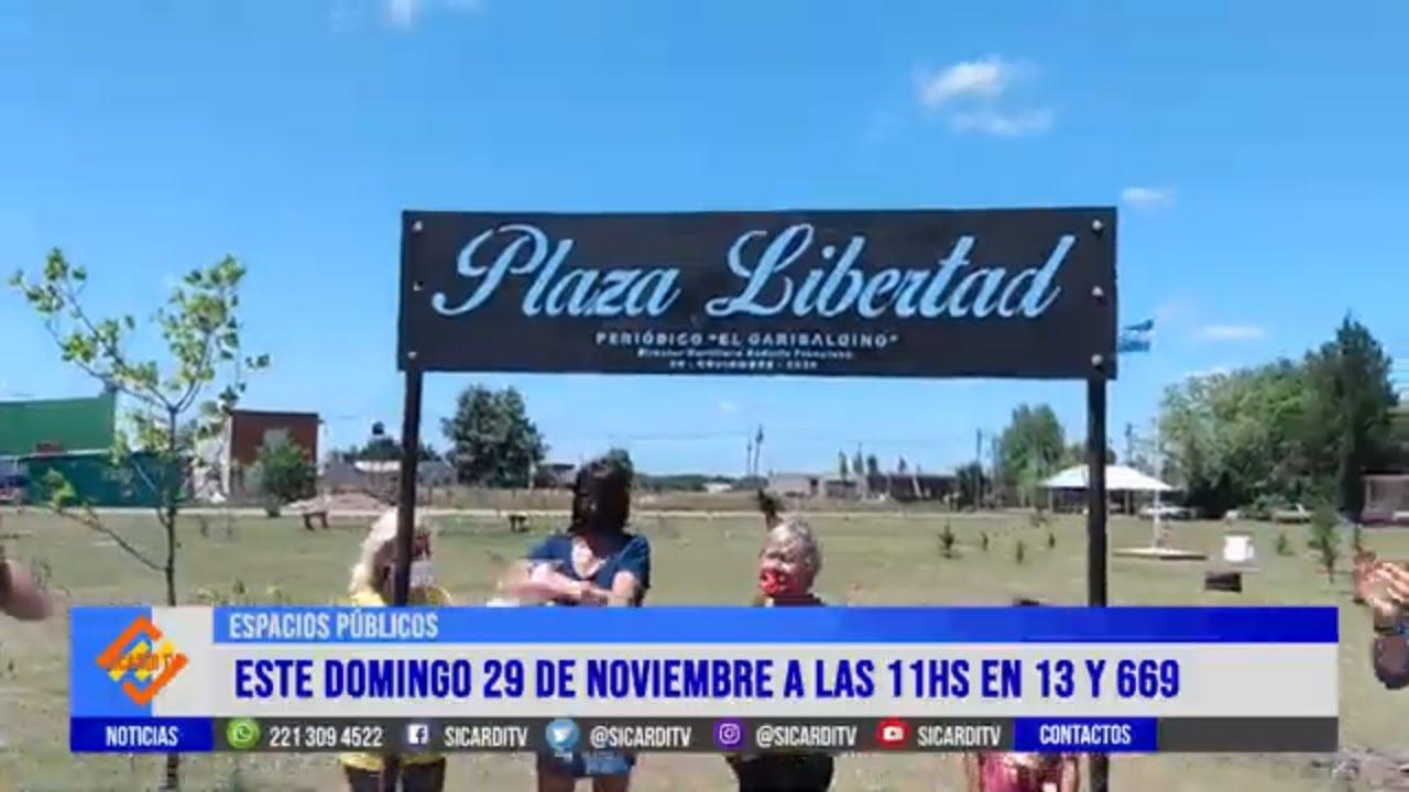 Inauguran la Plaza Libertad
