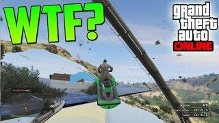 MOTOS DE AGUA POR DEBAJO DEL MAPA?! - Gameplay GTA 5 Online Funny Moments (Carrera GTA V PS4)