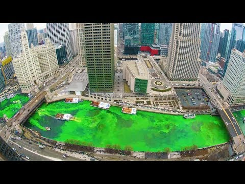 Chicago Turns River Green For Saint Patrick's Day