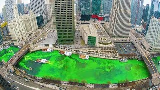 connectYoutube - Chicago Turns River Green For Saint Patrick's Day