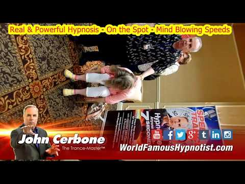"2017 HT LIVE – Learn John Cerbone's ""Speed Trance Hypnosis"" – Promo 9 – """"Master Hypnotic Power!"""""