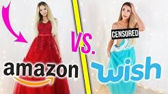 PRINZESSINNEN KLEIDER IN LIVE Anprobe 😱 Wish vs. Amazon | XLAETA