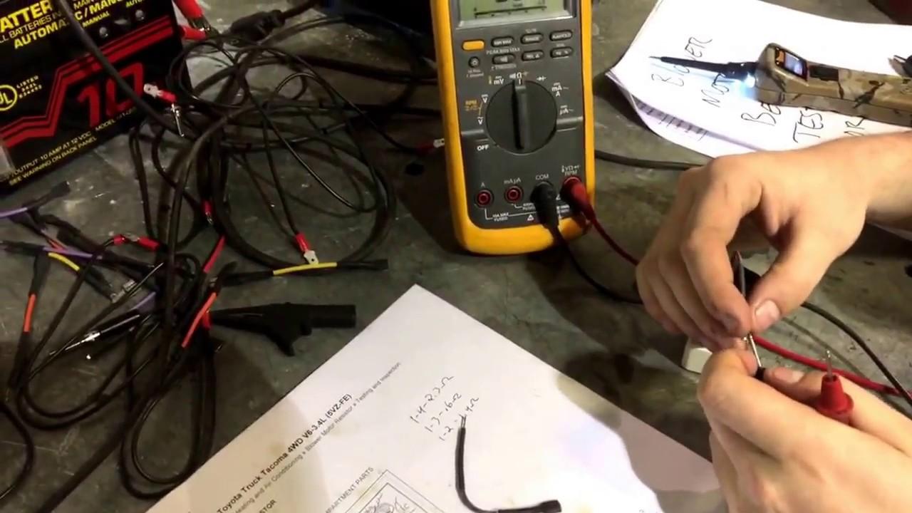 Bench Testing Blower Motor Resistor
