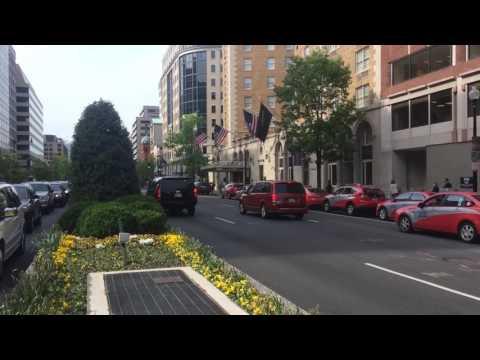 Italian Prime Minister Paolo Gentiloni's motorcade in Washington DC