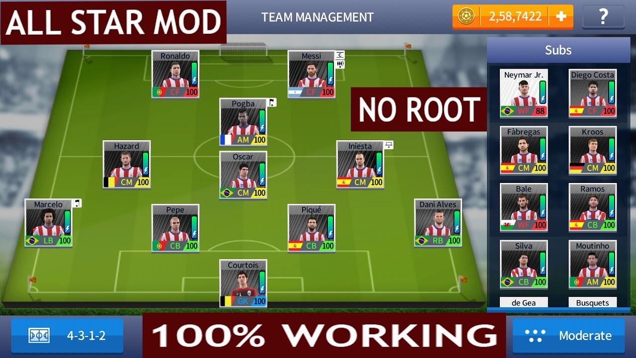 Dream league soccer 2018/17 hack|all players upgraded 100 |unlimited  coins(Save File)