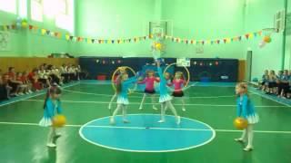 Спортивный танец с обручами танцуют ДЕТИ дошкольники