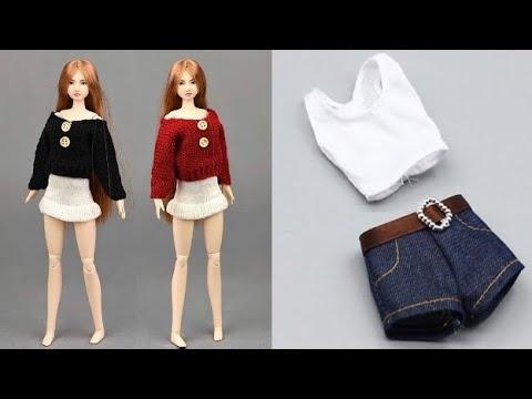 Barbie Kıyafet Yapımı Kot / Jeans Kendin Yap ~ 5 Dakikada Hallet Barbie Kıyafetleri Nasıl Yapılır?
