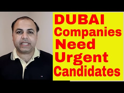 DUBAI JOBS 85000 RS SALARY PLUS OTHER BENEFITS || Jobs in Dubai
