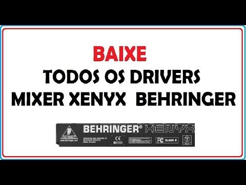 DOWNLOAD DE TODOS OS DRIVERS BEHRINGER XENYX  X Q QX (MIXER)