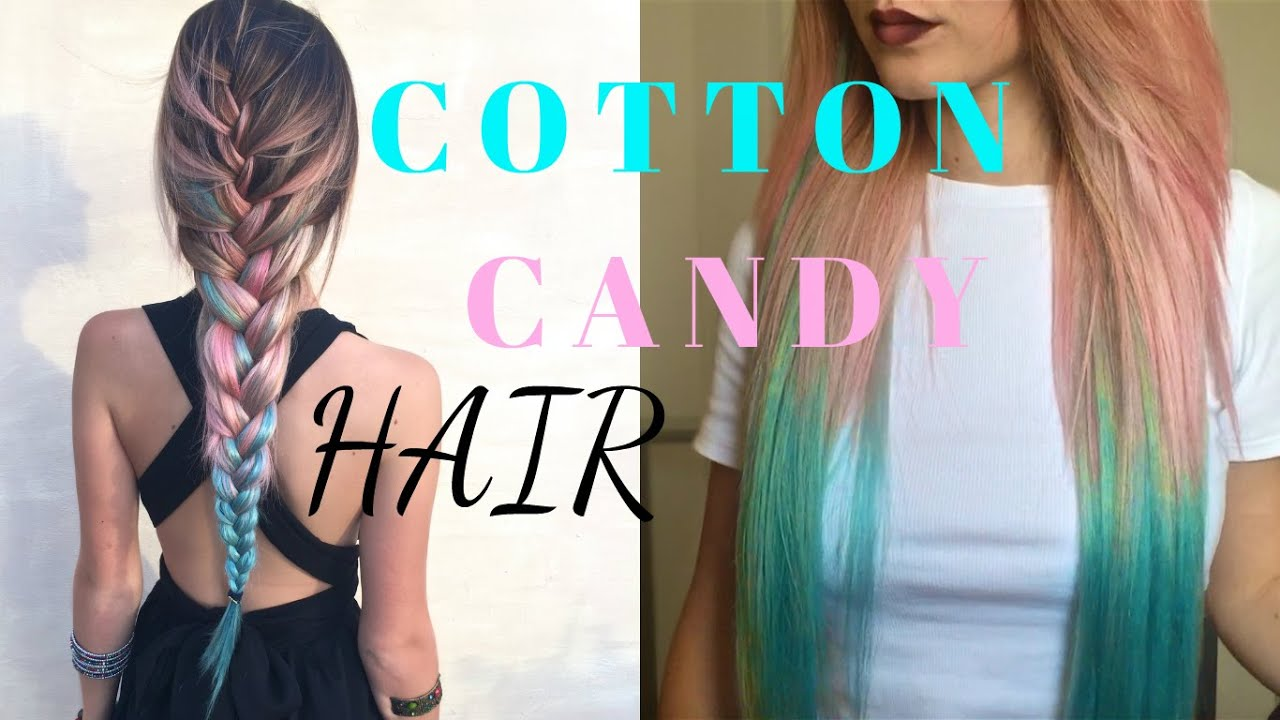 Cotton Candy Hair How To Pink Blue Ombre Dyeing Extensions