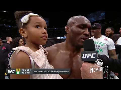 UFC 235: Kamaru Usman and Tyron Woodley Octagon Interview