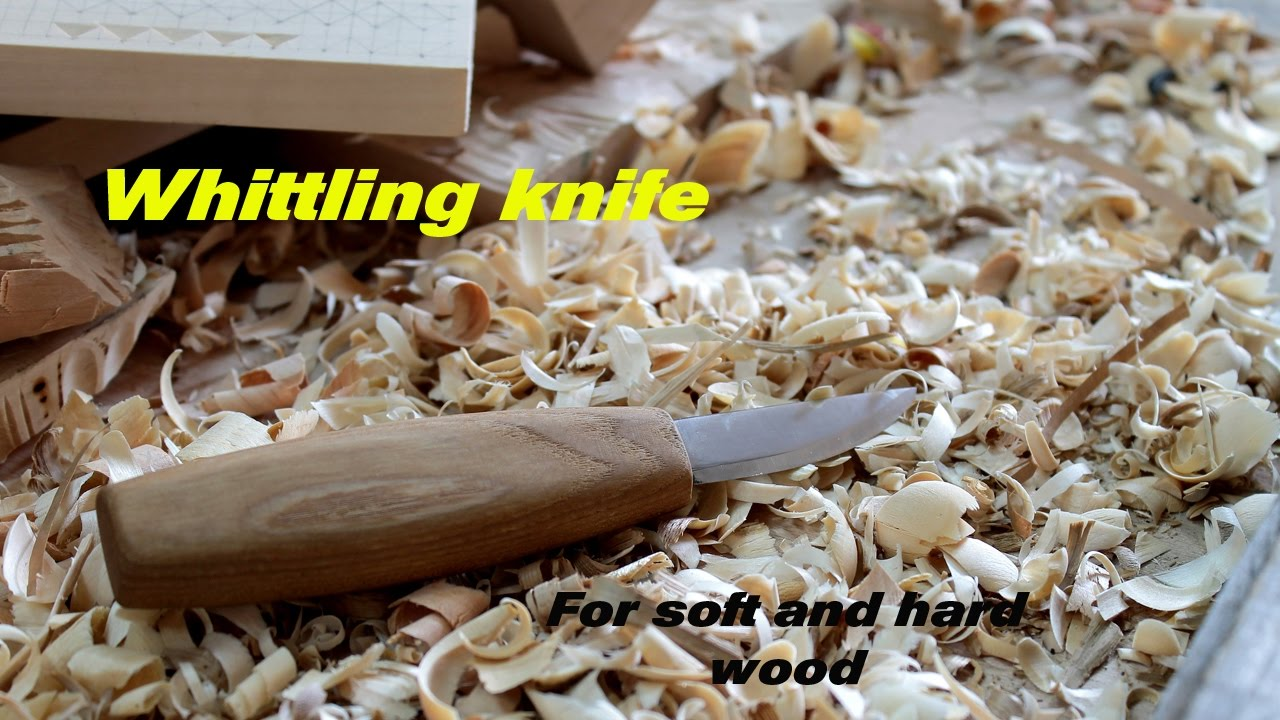 Whittling knife wood carving chip