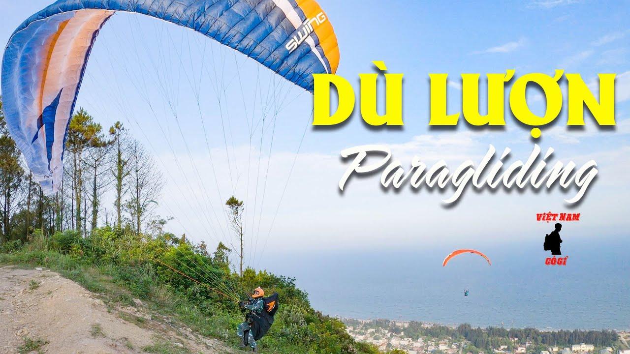 DÙ LƯỢN| CẬN CẢNH CHƠI DÙ LƯỢN TẠI BÃI NHẢY DÙ LINH TRƯỜNG THANH HÓA| Paragliding| Nhảy Dù| Vietnam