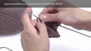 Вязание спицами, узор Шишечки