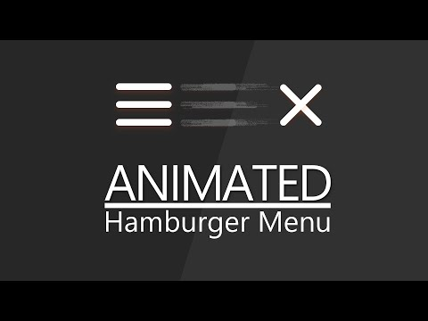 Animated Hamburger Menu Tutorial - CSS Effects