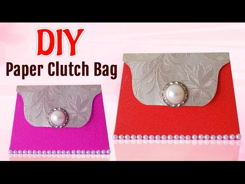 DIY Projects How To Make Paper Clutch Bag For Girls