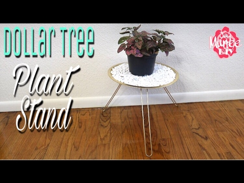 Dollar Tree Diy Plant Stand Table Youtube