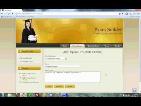Online Exam Portal - EXAMINER - 02 Allocating Groups to Users.mp4