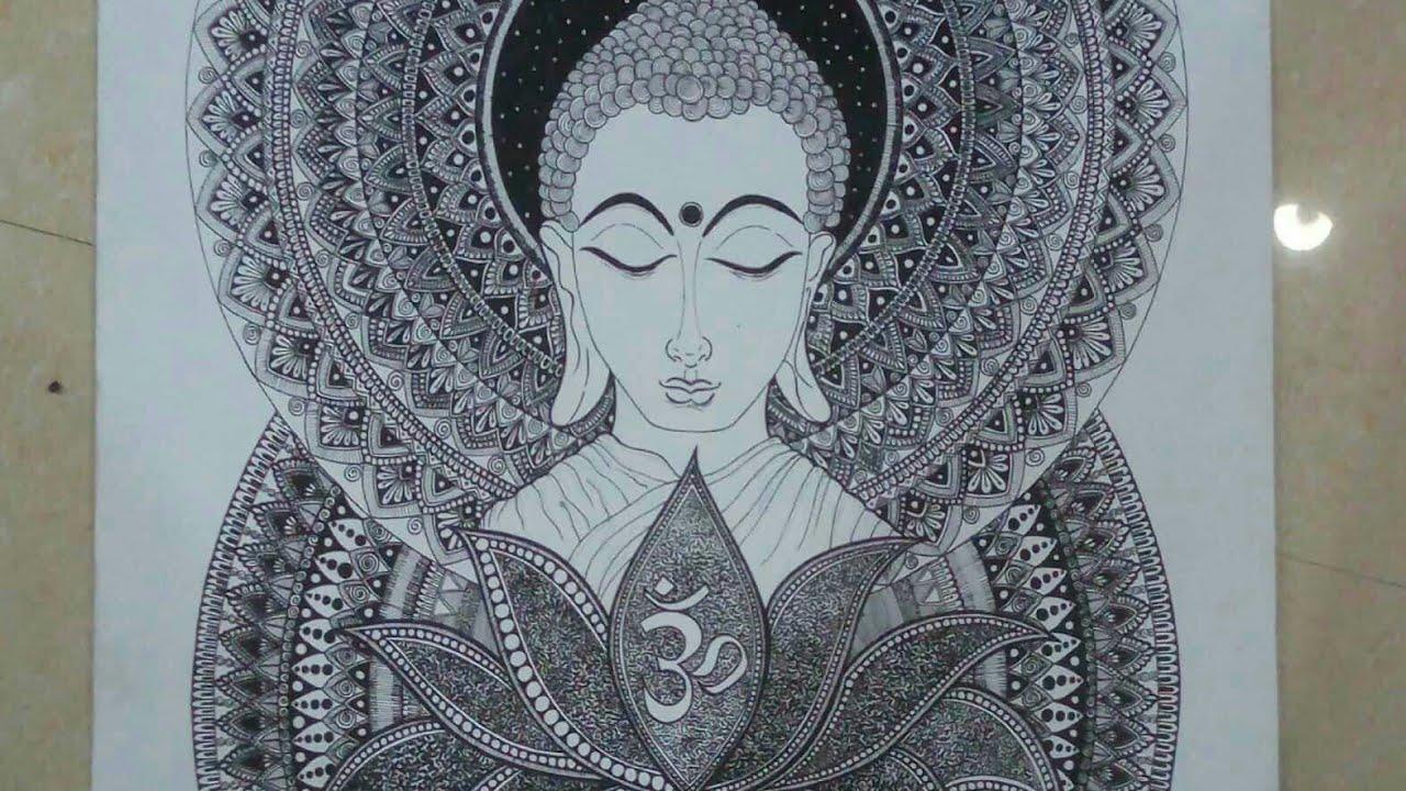 #btrendy #stayhome #staysafe Lord Buddha mandala art|Creative Palette