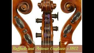 Raffaele and Antonio Gagliano violin c. 1812