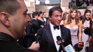 Sylvester Stallone and MIchael B  Jordan talk Golden Globe Nominations