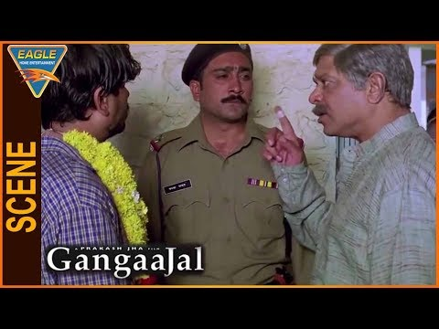Gangaajal Hindi Movie || Mohan Joshi Warning To Mukesh Tiwari || Eagle Hindi Movies