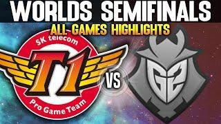 SKT vs G2 Highlights ALL GAMES Worlds 2019 SEMIFINALS - SKT T1 vs G2 Esports Highlights ALL GAMES