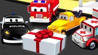 消防车和警车在汽车城 ???? 儿童卡通片 ???? 周末合集9 - Chinese Mandarin Cartoon