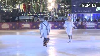 Открытие ледового катка на Красной площади