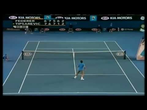 [Highlights] Federer - Tipsarevic @Australian Open 2008