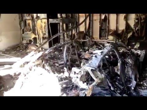 Porsche Taycan EV Goes Up in Flames in Florida Garage